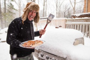 Winter grilling